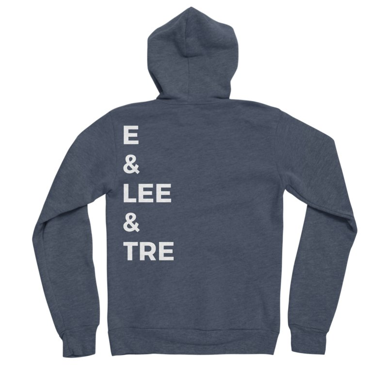 Eric Washington x The Elite Podcast - The Cast #1 Women's Sponge Fleece Zip-Up Hoody by Eric Washington's Merch Shop