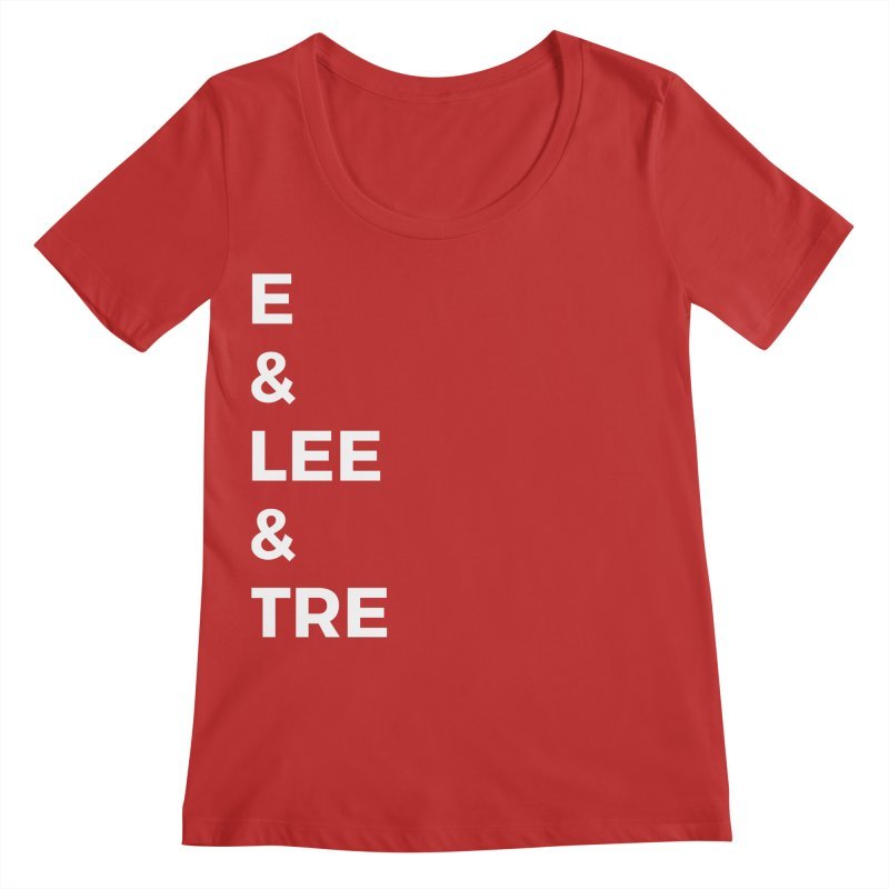 Eric Washington x The Elite Podcast - The Cast #1 Women's Regular Scoop Neck by Eric Washington's Merch Shop