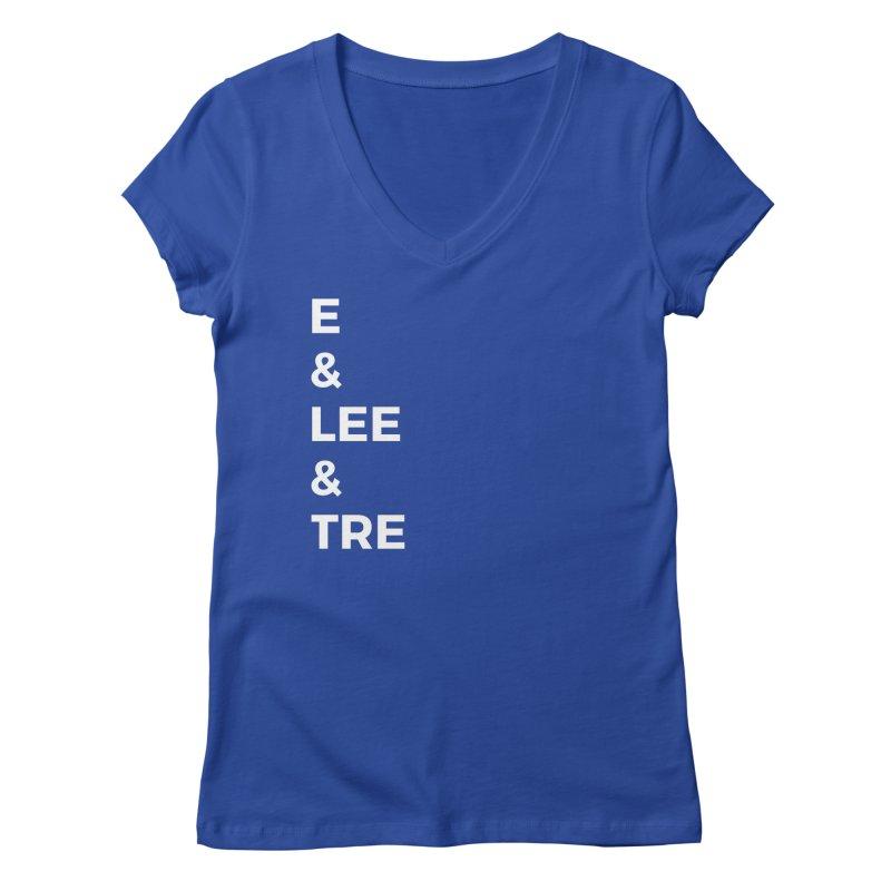 Eric Washington x The Elite Podcast - The Cast #1 Women's Regular V-Neck by Eric Washington's Merch Shop