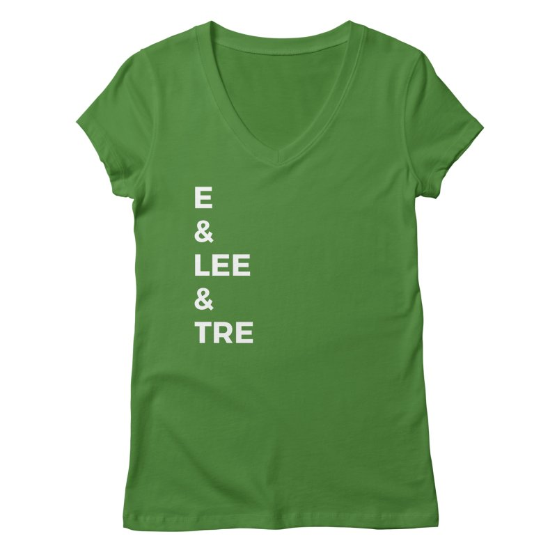 Eric Washington x The Elite Podcast - The Cast #1 Women's Regular V-Neck by Eric Washington's Merch Shop