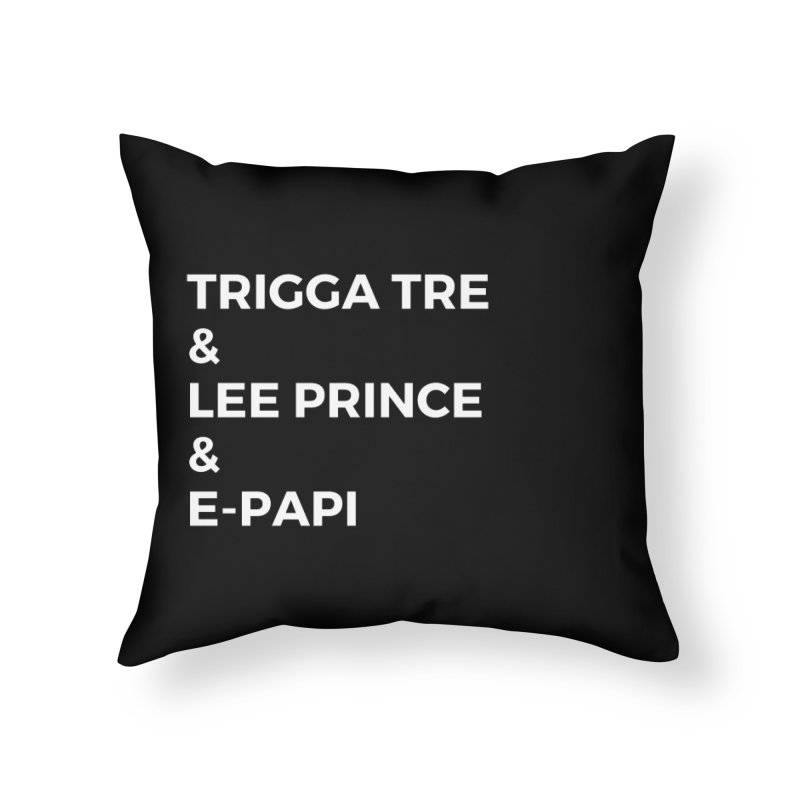 Eric Washington x The Elite Podcast - The Cast #2 Home Throw Pillow by Eric Washington's Merch Shop