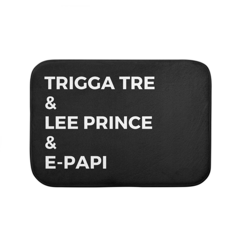 Eric Washington x The Elite Podcast - The Cast #2 Home Bath Mat by Eric Washington's Merch Shop