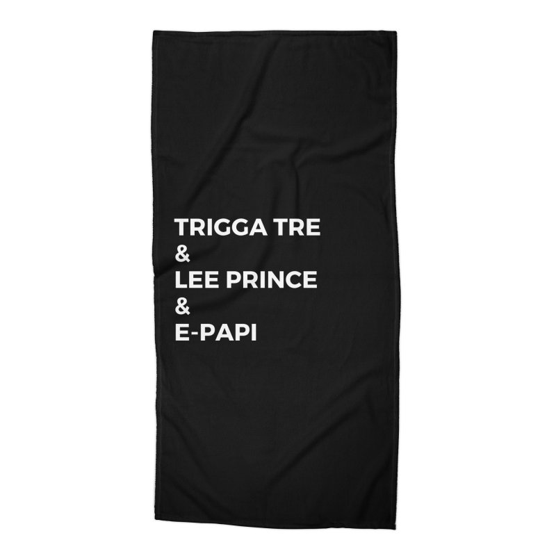 Eric Washington x The Elite Podcast - The Cast #2 Accessories Beach Towel by Eric Washington's Merch Shop