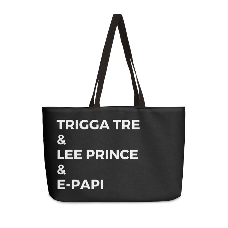 Eric Washington x The Elite Podcast - The Cast #2 Accessories Weekender Bag Bag by Eric Washington's Merch Shop
