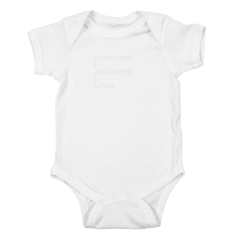 Eric Washington x The Elite Podcast - The Cast #2 Kids Baby Bodysuit by Eric Washington's Merch Shop
