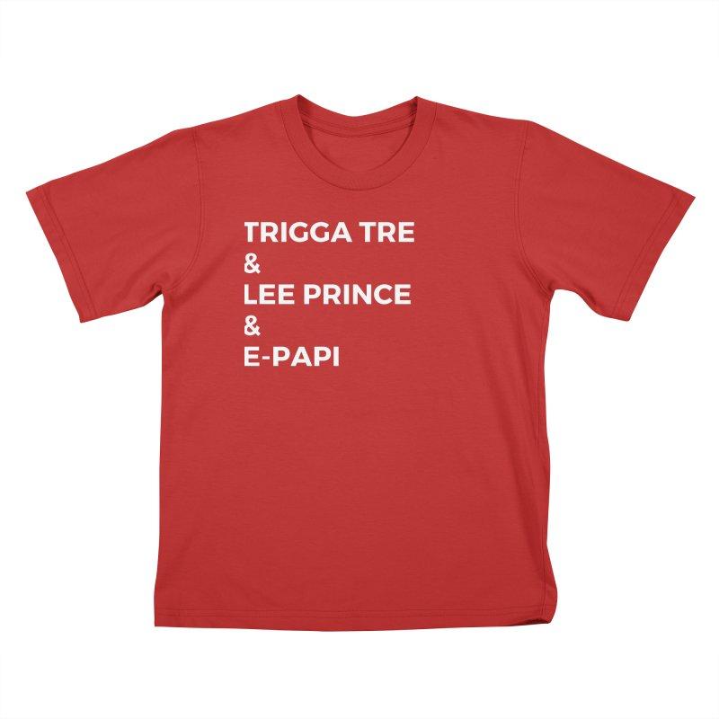 Eric Washington x The Elite Podcast - The Cast #2 Kids T-Shirt by Eric Washington's Merch Shop