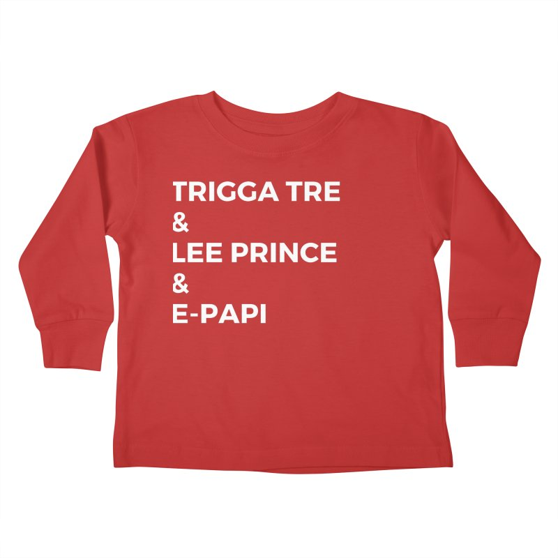 Eric Washington x The Elite Podcast - The Cast #2 Kids Toddler Longsleeve T-Shirt by Eric Washington's Merch Shop