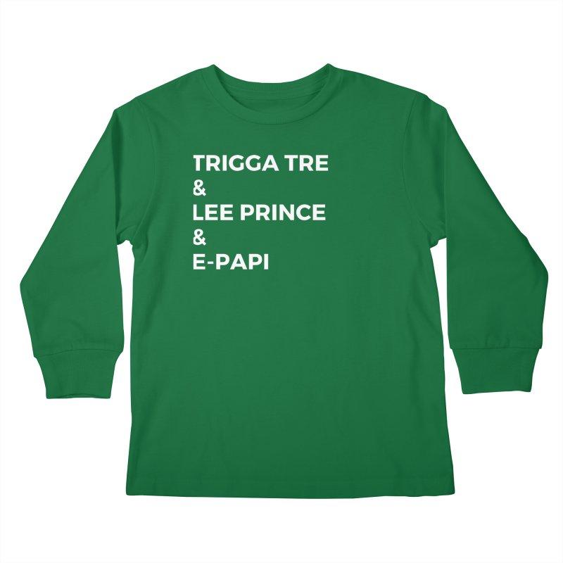 Eric Washington x The Elite Podcast - The Cast #2 Kids Longsleeve T-Shirt by Eric Washington's Merch Shop