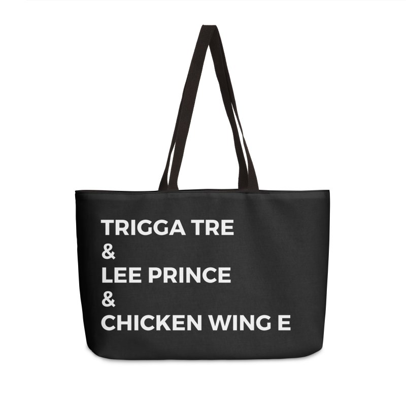 Eric Washington x The Elite Podcast - The Cast #3 Accessories Weekender Bag Bag by Eric Washington's Merch Shop