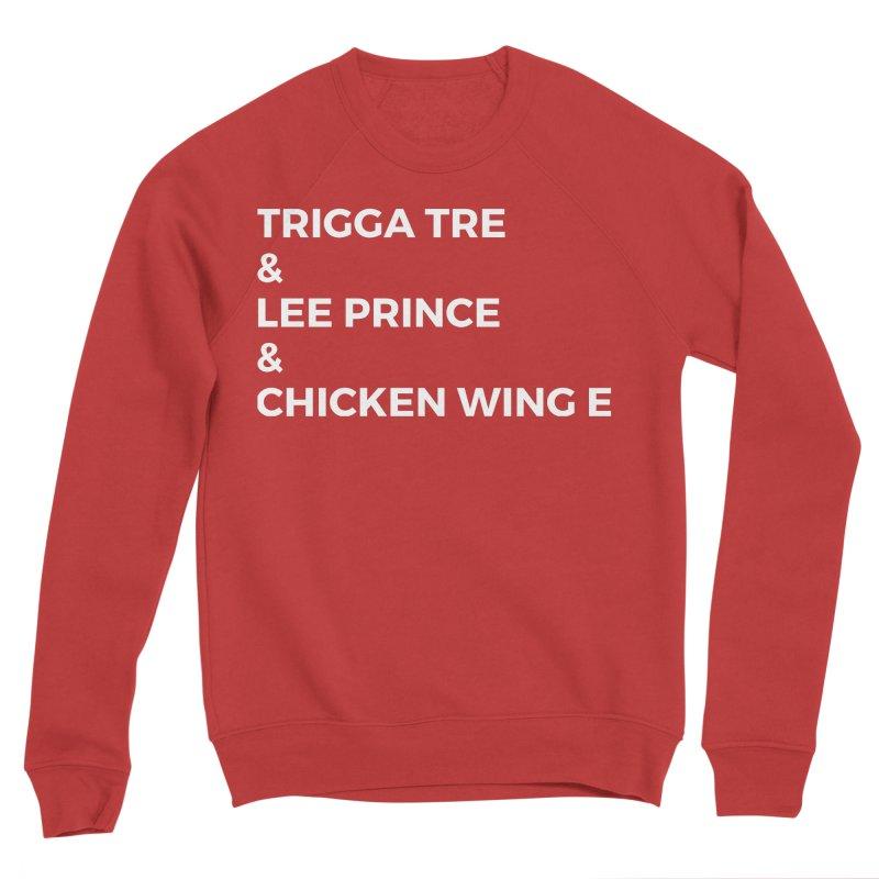 Eric Washington x The Elite Podcast - The Cast #3 Men's Sponge Fleece Sweatshirt by Eric Washington's Merch Shop