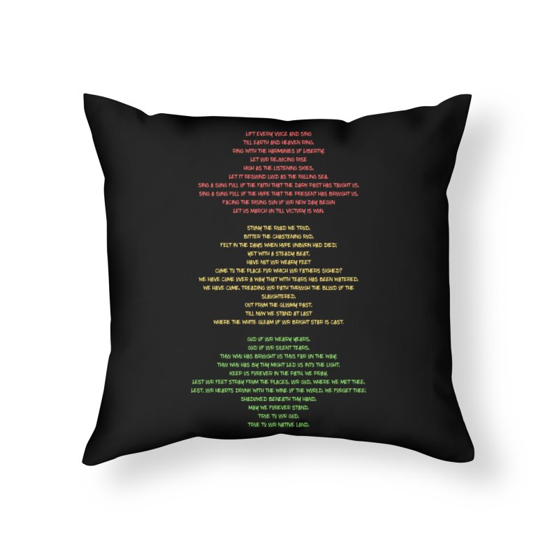 Lift Every Voice Home Throw Pillow by Eric Washington's Merch Shop