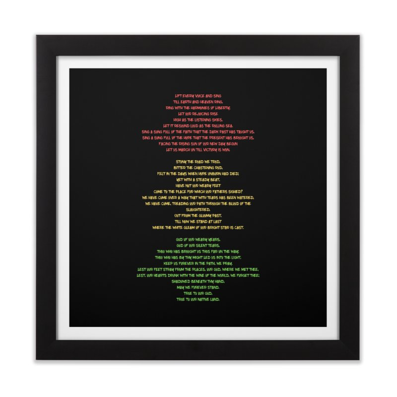 Lift Every Voice Home Framed Fine Art Print by Eric Washington's Merch Shop