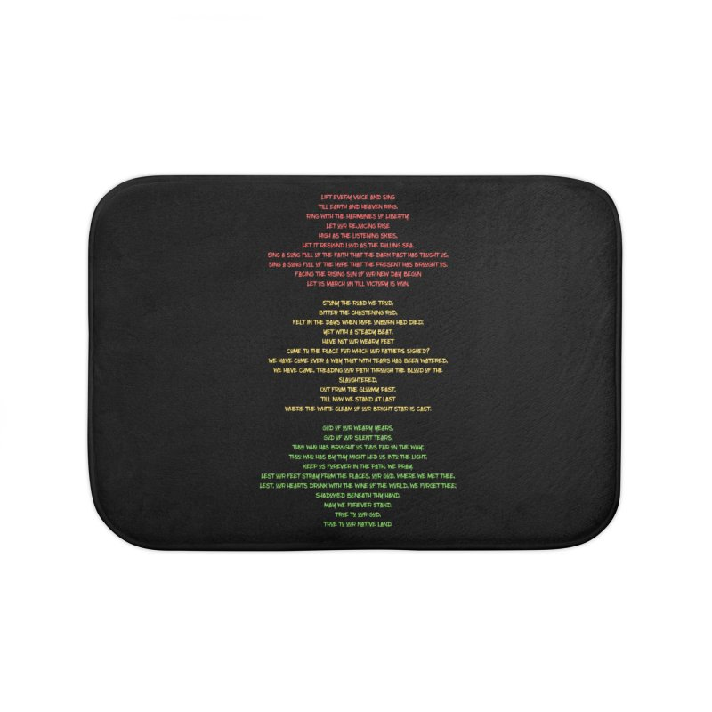 Lift Every Voice Home Bath Mat by Eric Washington's Merch Shop