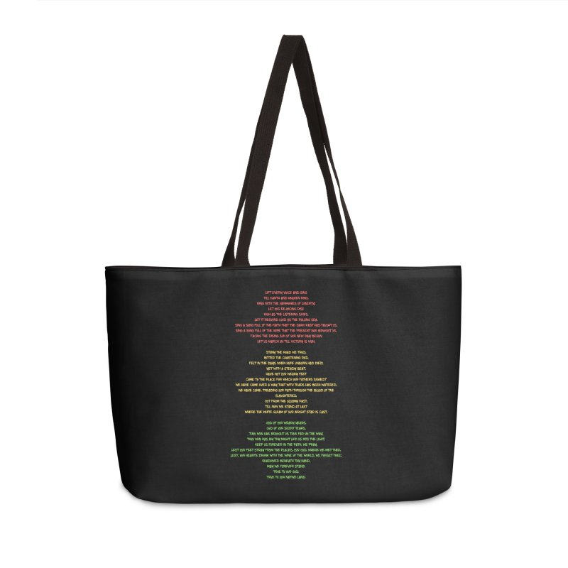 Lift Every Voice Accessories Weekender Bag Bag by Eric Washington's Merch Shop