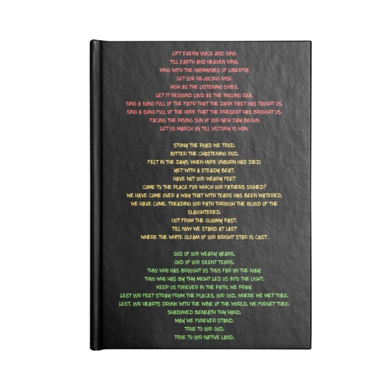 Lift Every Voice Accessories Lined Journal Notebook by Eric Washington's Merch Shop