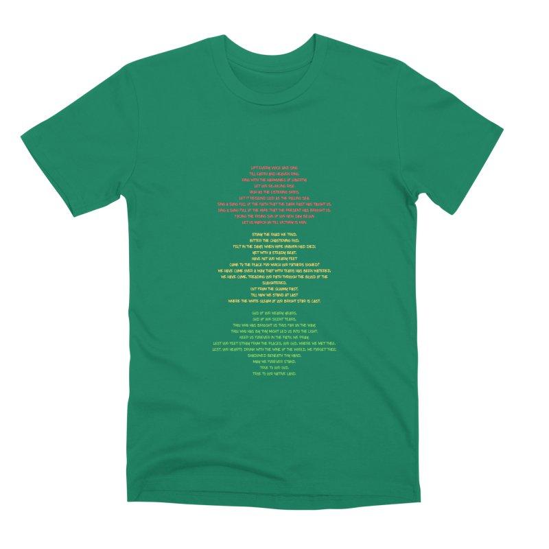 Lift Every Voice Men's Premium T-Shirt by Eric Washington's Merch Shop