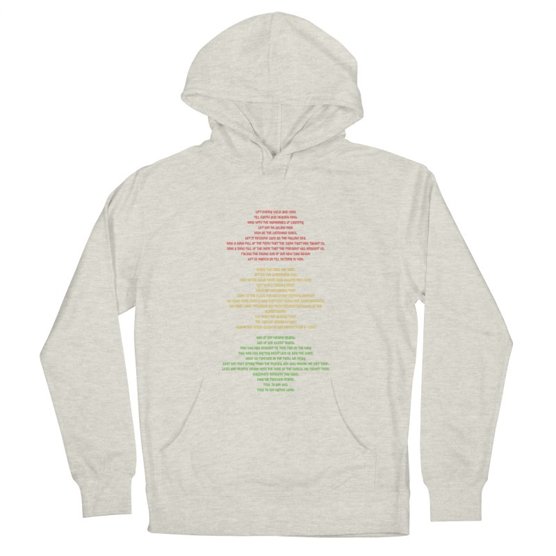 Lift Every Voice Women's French Terry Pullover Hoody by Eric Washington's Merch Shop