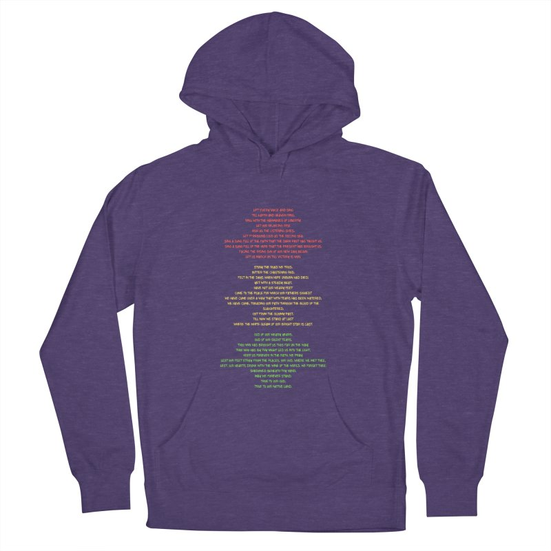 Lift Every Voice Men's French Terry Pullover Hoody by Eric Washington's Merch Shop