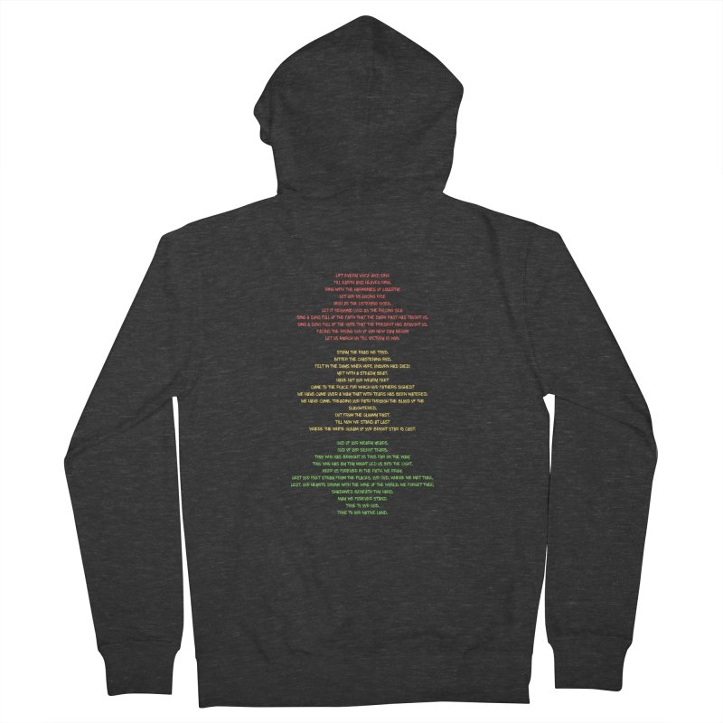 Lift Every Voice Women's French Terry Zip-Up Hoody by Eric Washington's Merch Shop