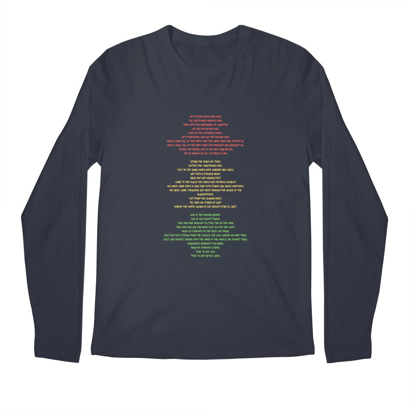 Lift Every Voice Men's Regular Longsleeve T-Shirt by Eric Washington's Merch Shop