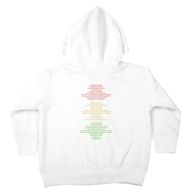 Lift Every Voice Kids Toddler Zip-Up Hoody by Eric Washington's Merch Shop