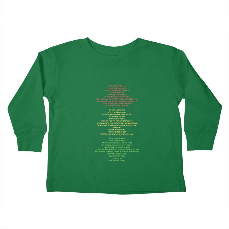 Lift Every Voice Kids Toddler Longsleeve T-Shirt by Eric Washington's Merch Shop