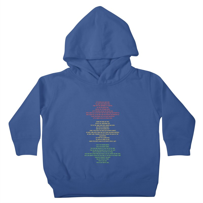 Lift Every Voice Kids Toddler Pullover Hoody by Eric Washington's Merch Shop