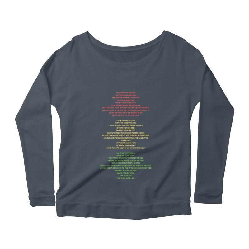 Lift Every Voice Women's Scoop Neck Longsleeve T-Shirt by Eric Washington's Merch Shop