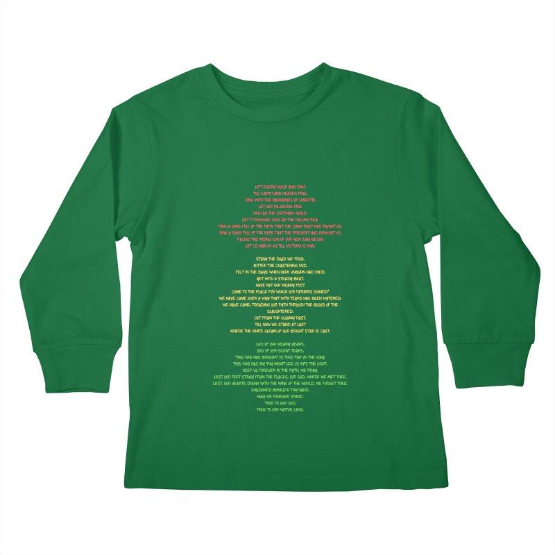 Lift Every Voice Kids Longsleeve T-Shirt by Eric Washington's Merch Shop