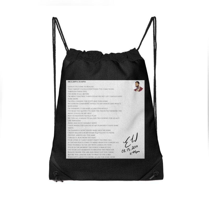 08.13.2019 x 11:44PM Accessories Drawstring Bag Bag by Eric Washington's Merch Shop