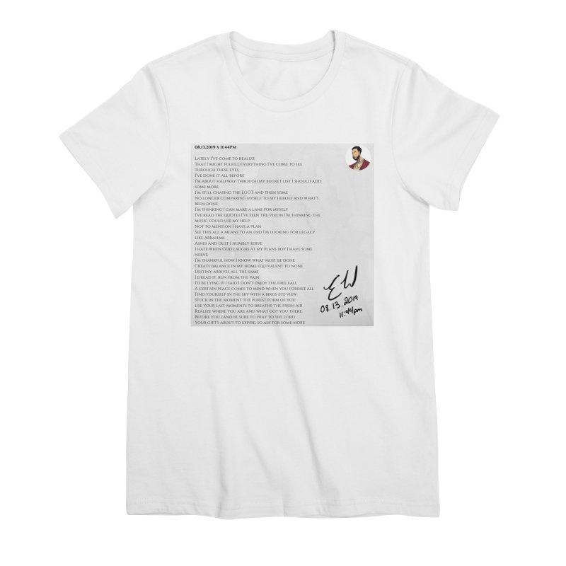 08.13.2019 x 11:44PM Women's Premium T-Shirt by Eric Washington's Merch Shop