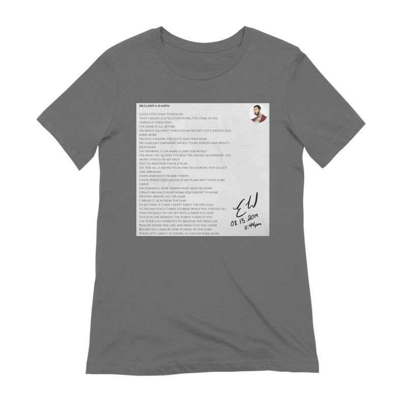08.13.2019 x 11:44PM Women's Extra Soft T-Shirt by Eric Washington's Merch Shop