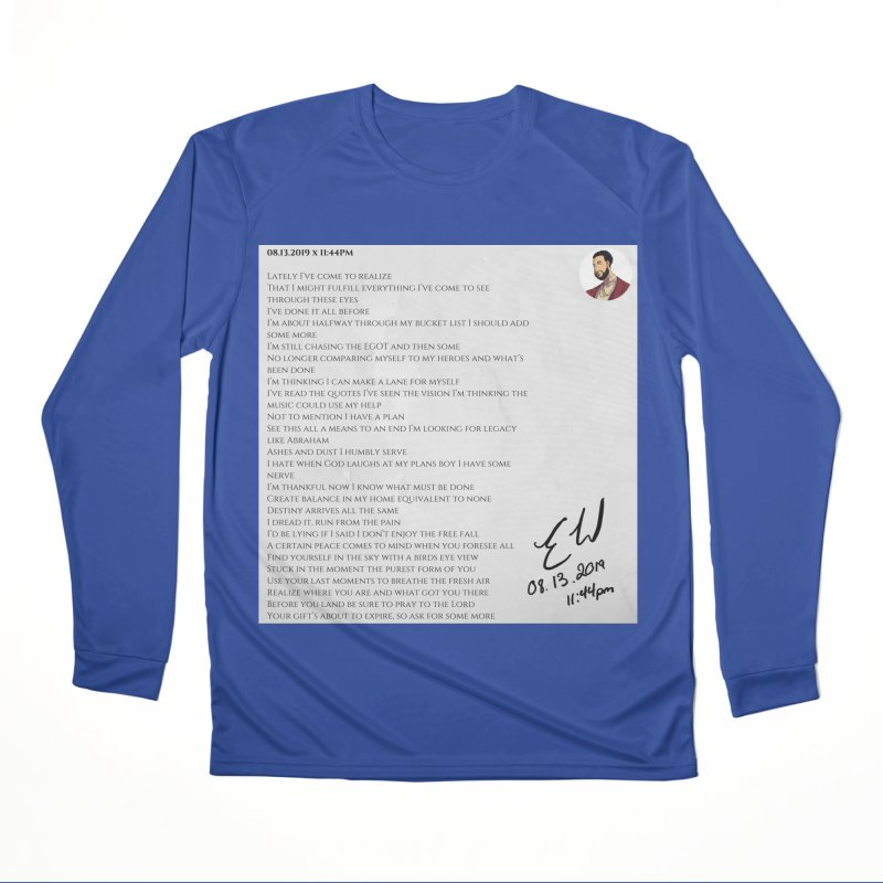08.13.2019 x 11:44PM Men's Performance Longsleeve T-Shirt by Eric Washington's Merch Shop