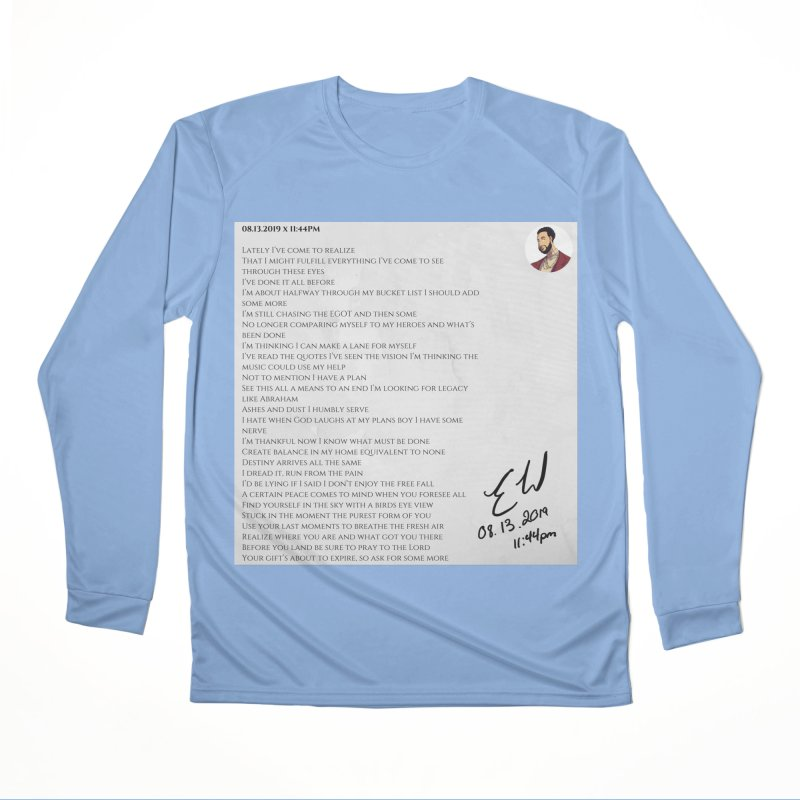 08.13.2019 x 11:44PM Men's Performance Longsleeve T-Shirt by Eric Washington's Merch Shop