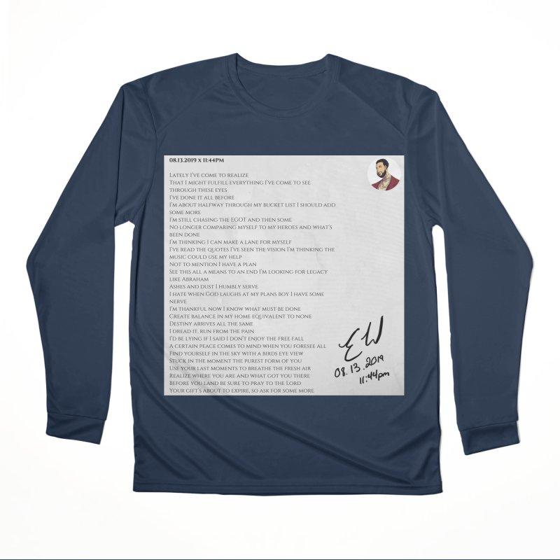 08.13.2019 x 11:44PM Women's Performance Unisex Longsleeve T-Shirt by Eric Washington's Merch Shop