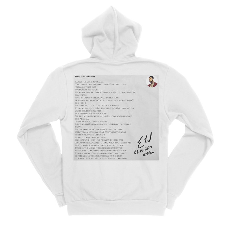 08.13.2019 x 11:44PM Men's Sponge Fleece Zip-Up Hoody by Eric Washington's Merch Shop