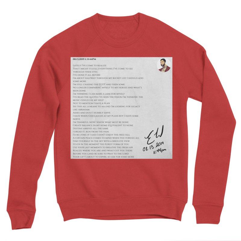 08.13.2019 x 11:44PM Women's Sponge Fleece Sweatshirt by Eric Washington's Merch Shop
