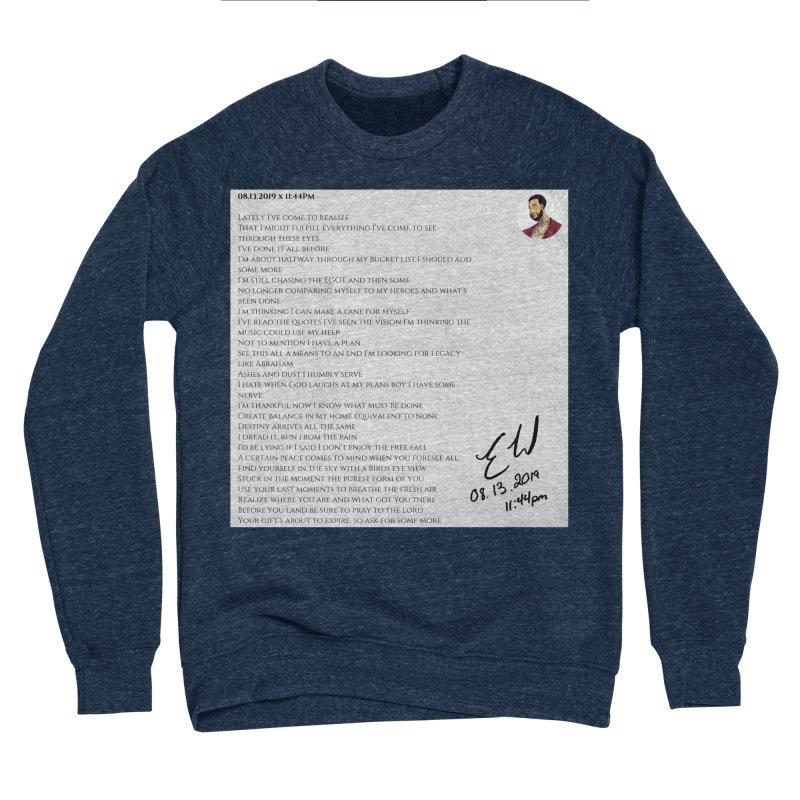 08.13.2019 x 11:44PM Men's Sponge Fleece Sweatshirt by Eric Washington's Merch Shop