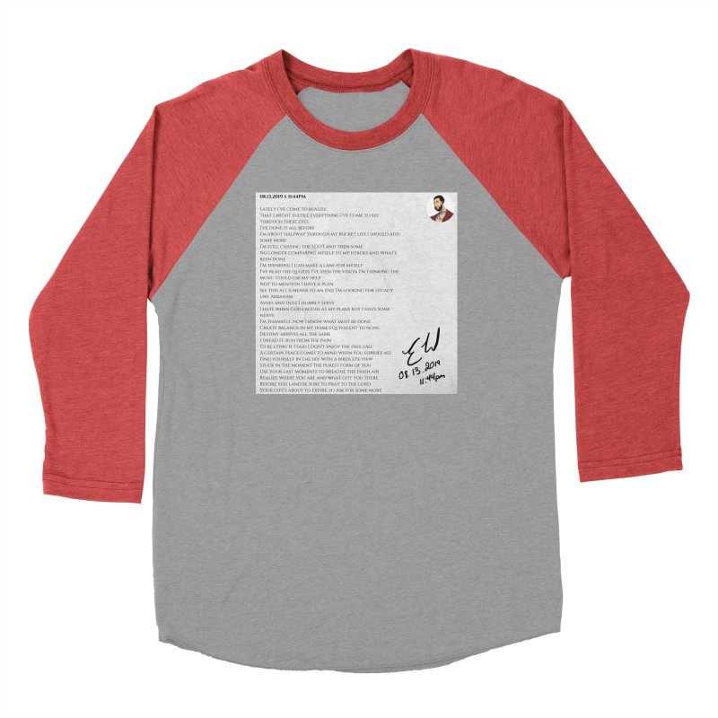 08.13.2019 x 11:44PM Women's Baseball Triblend Longsleeve T-Shirt by Eric Washington's Merch Shop