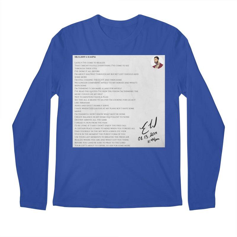 08.13.2019 x 11:44PM Men's Regular Longsleeve T-Shirt by Eric Washington's Merch Shop