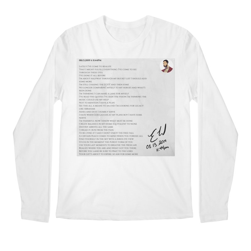 08.13.2019 x 11:44PM Men's Regular Longsleeve T-Shirt by Eric Washington's Merch Shop