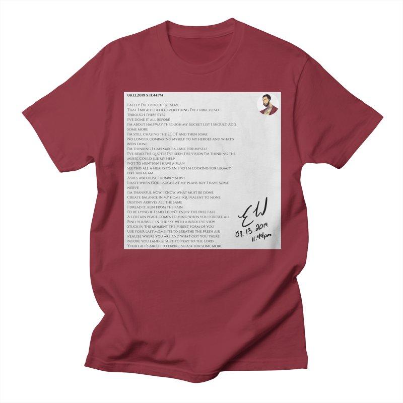 08.13.2019 x 11:44PM Men's Regular T-Shirt by Eric Washington's Merch Shop