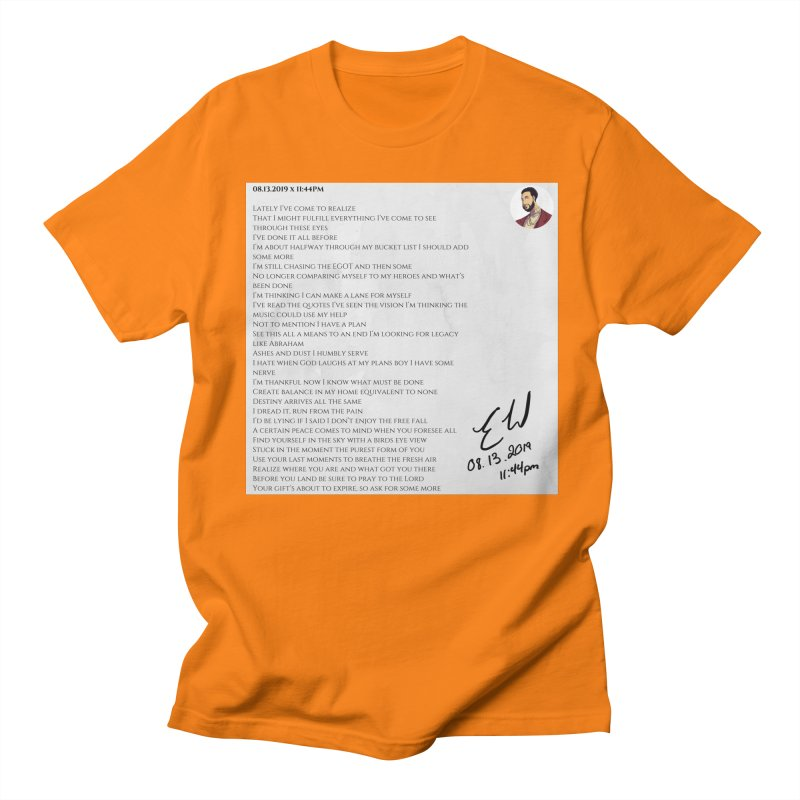 08.13.2019 x 11:44PM Women's Regular Unisex T-Shirt by Eric Washington's Merch Shop