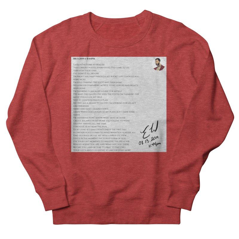 08.13.2019 x 11:44PM Women's French Terry Sweatshirt by Eric Washington's Merch Shop