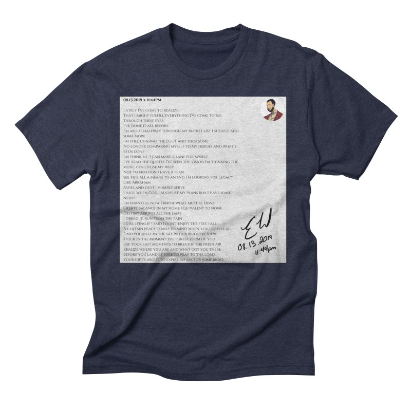 08.13.2019 x 11:44PM Men's Triblend T-Shirt by Eric Washington's Merch Shop