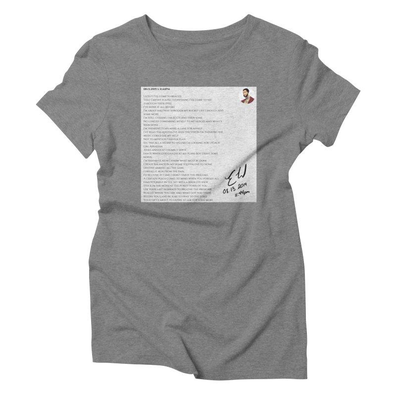 08.13.2019 x 11:44PM Women's Triblend T-Shirt by Eric Washington's Merch Shop