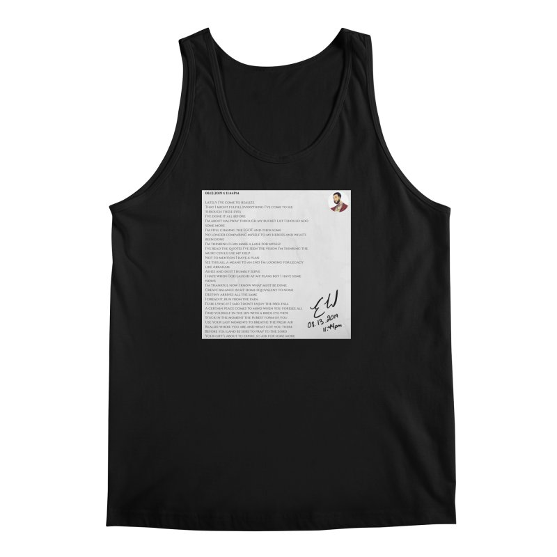 08.13.2019 x 11:44PM Men's Regular Tank by Eric Washington's Merch Shop