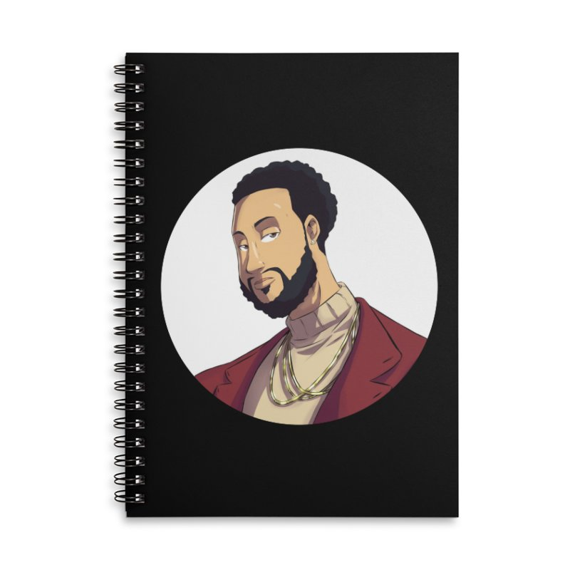 Portrait | Created by @cknightart Accessories Lined Spiral Notebook by Eric Washington's Merch Shop