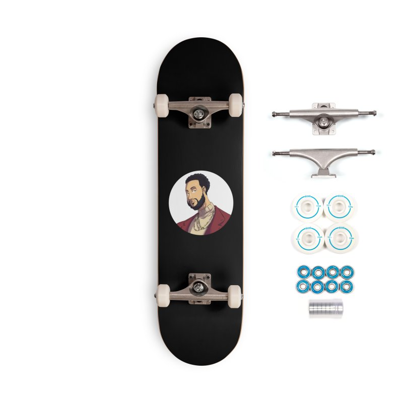 Portrait | Created by @cknightart Accessories Complete - Basic Skateboard by Eric Washington's Merch Shop