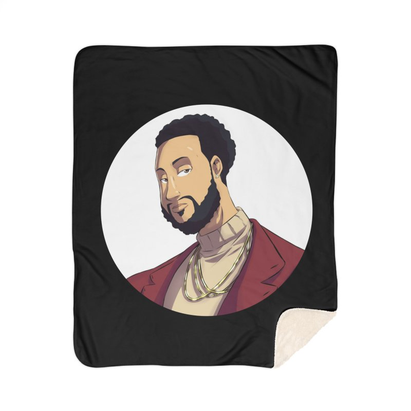 Portrait | Created by @cknightart Home Sherpa Blanket Blanket by Eric Washington's Merch Shop